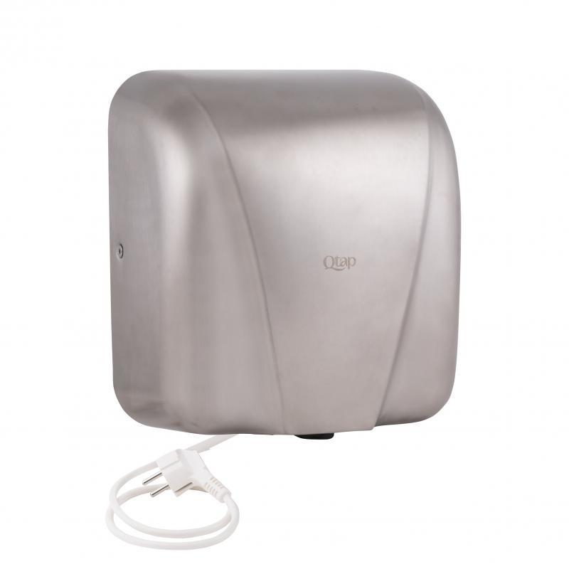 Електросушилка для рук автоматическая 1800 вт из нержавеющей стали qtap сушилка для рук фото №1