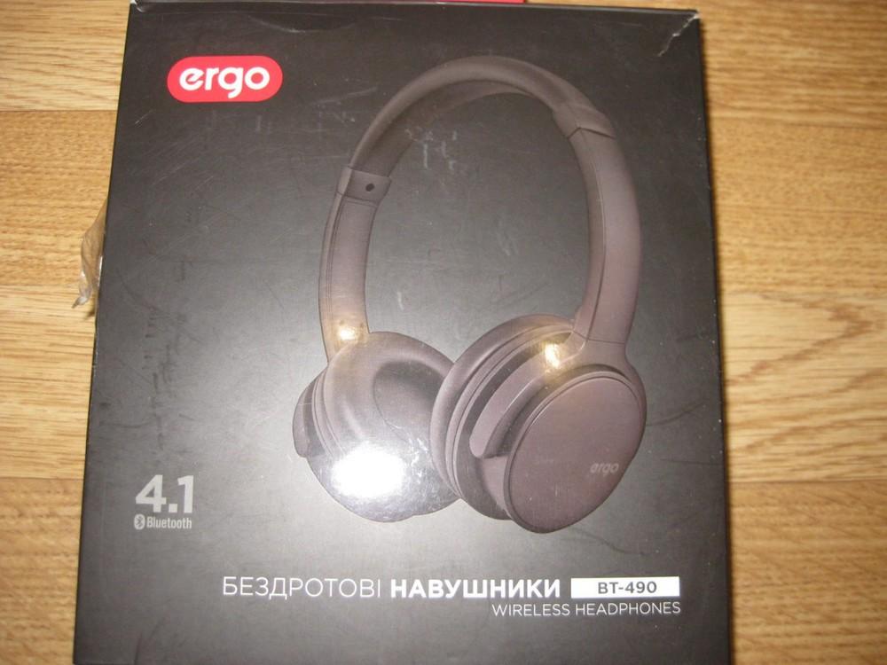 Наушники накладные беспроводные ergo bt-490 black фото №1