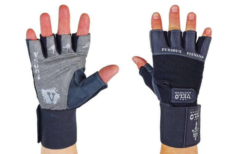 Перчатки атлетические с фиксатором запястья furious fitness, размер l фото №1