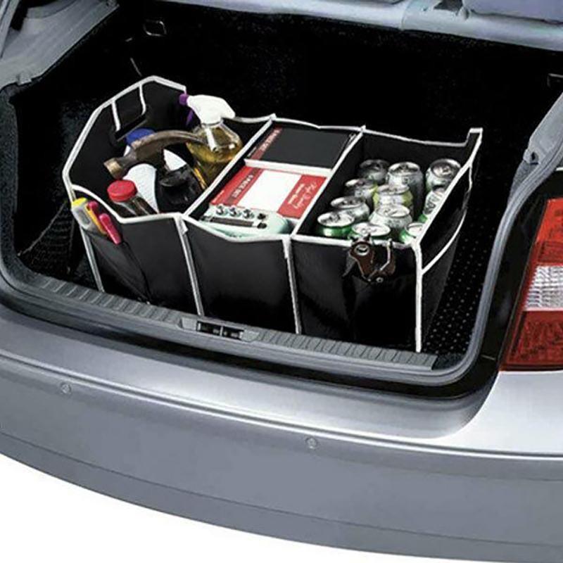 Органайзер - сумка в багажник автомобиля, для похода, туризма, отдыха car boot organizer (складной фото №1