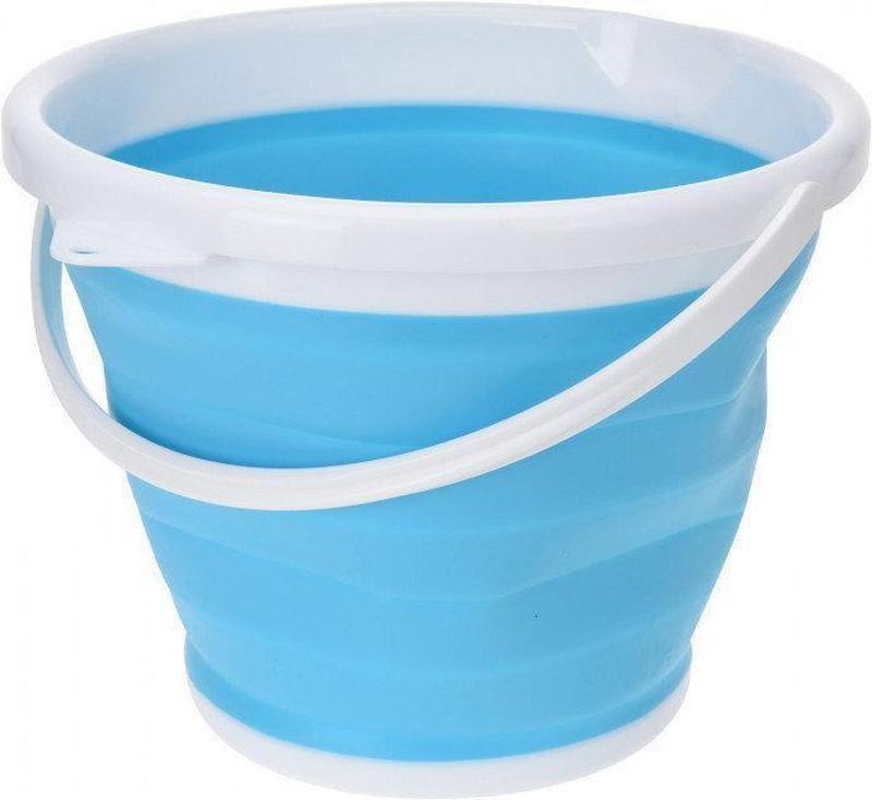 Ведро туристическое складное collapsible bucket 10 литров силикон фото №1