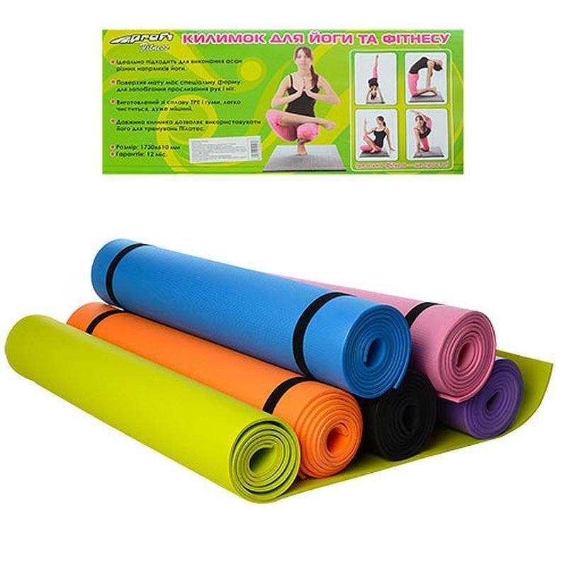 Йогамат коврик для фитнеса и йоги фото №1