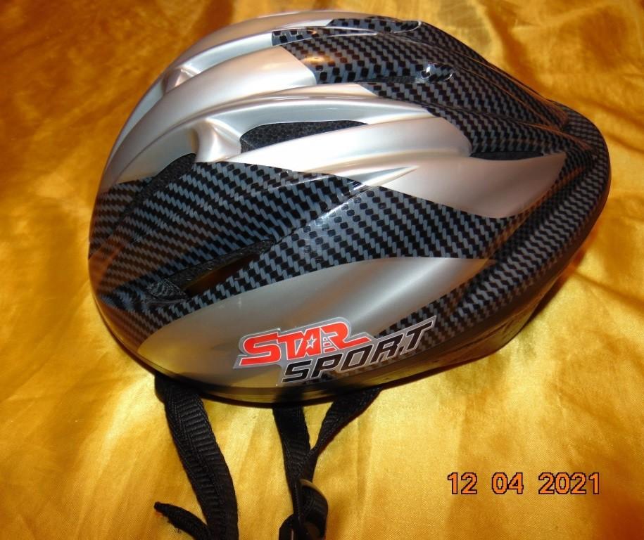 Спортивний фирменний защитний вело шлем каска star sport.л-хл .56-58 фото №1