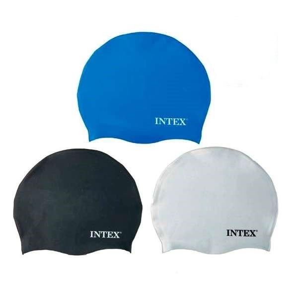 Шапочка для плавания intex силикон 20 см для профессионалов и любителей от 8-ми лет фото №1