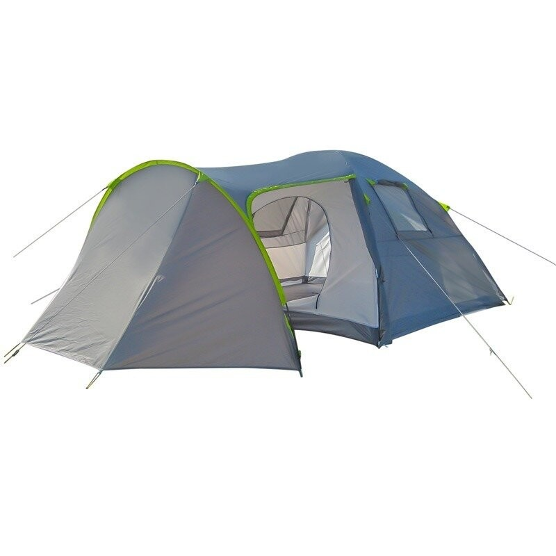 Палатка туристическая четырехместная green camp 1009-2, 2 входа намет 1009 грин камп фото №1