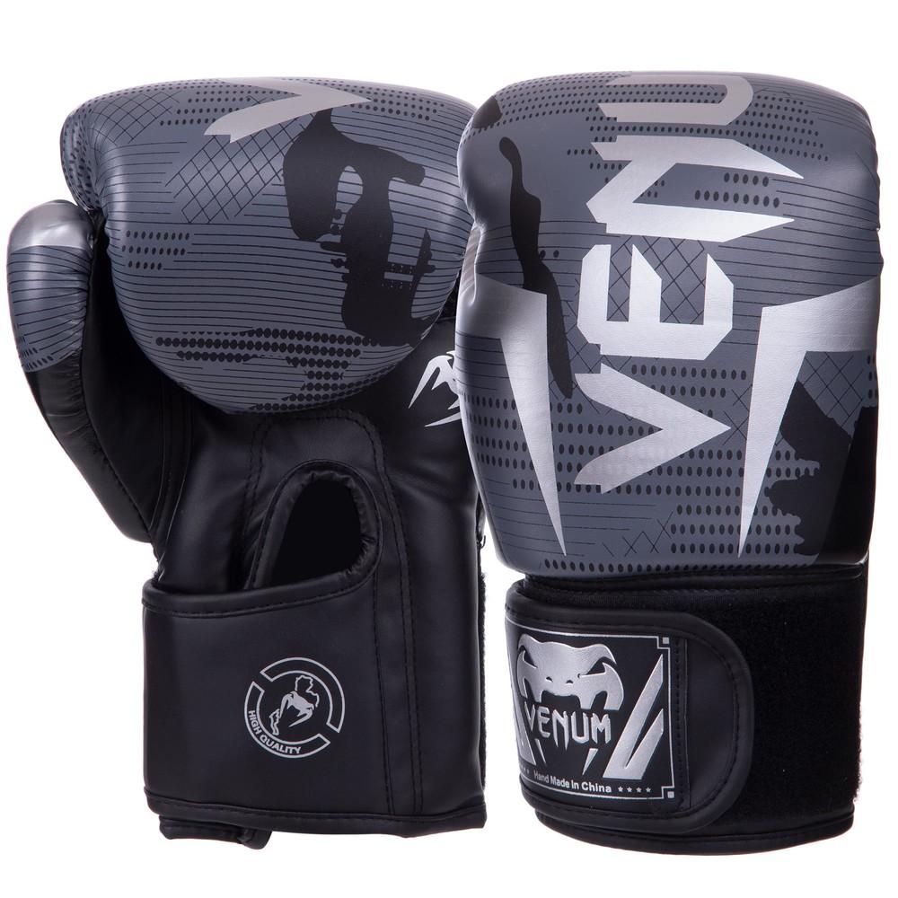 Перчатки боксерские на липучке venum 2532: 6-14 унций, pu фото №1