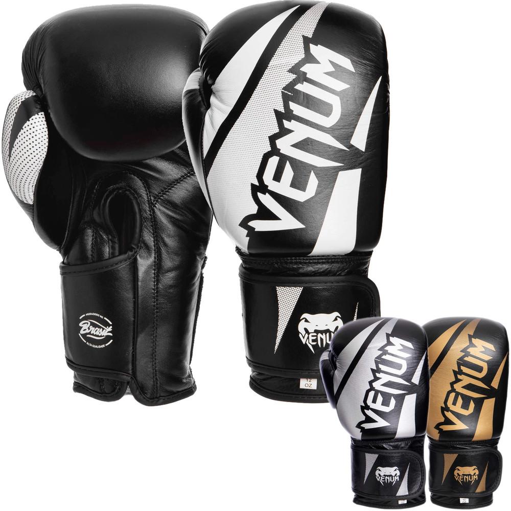 Перчатки боксерские кожаные на липучке venum challenger brasil 2049: 10-14 унций (3 цвета) фото №1