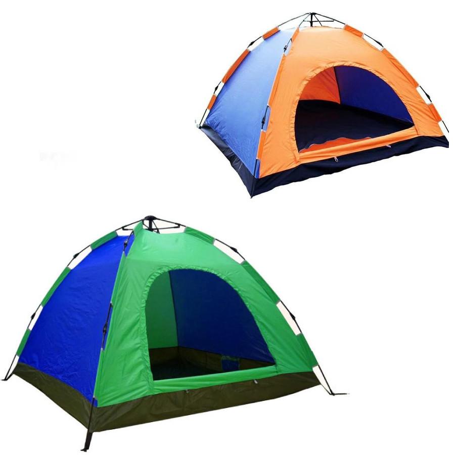 Палатка-автомат с автоматическим каркасом двухместная туристическая mycamp 009: 2х1,5х1,1м (blue) фото №1