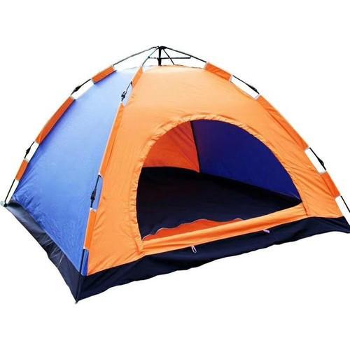 Палатка-автомат с автоматическим каркасом двухместная туристическая mycamp 009: 2х1,5х1,1м (orange) фото №1
