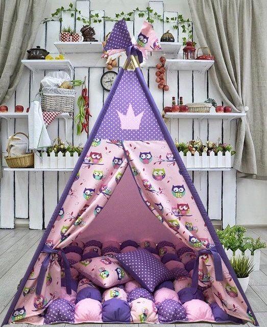 Цена с ковриком бонбон и подушкой. шалаш. домик вигвам. палатка. шатер фото №1