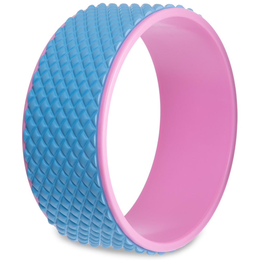 Колесо кольцо массажное для йоги fit wheel yoga 2438: размер 33см фото №1