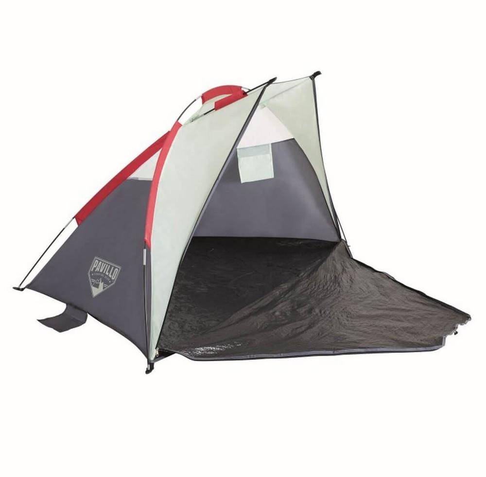 Палатка пляжная тент 2 местная с чехлом фото №1