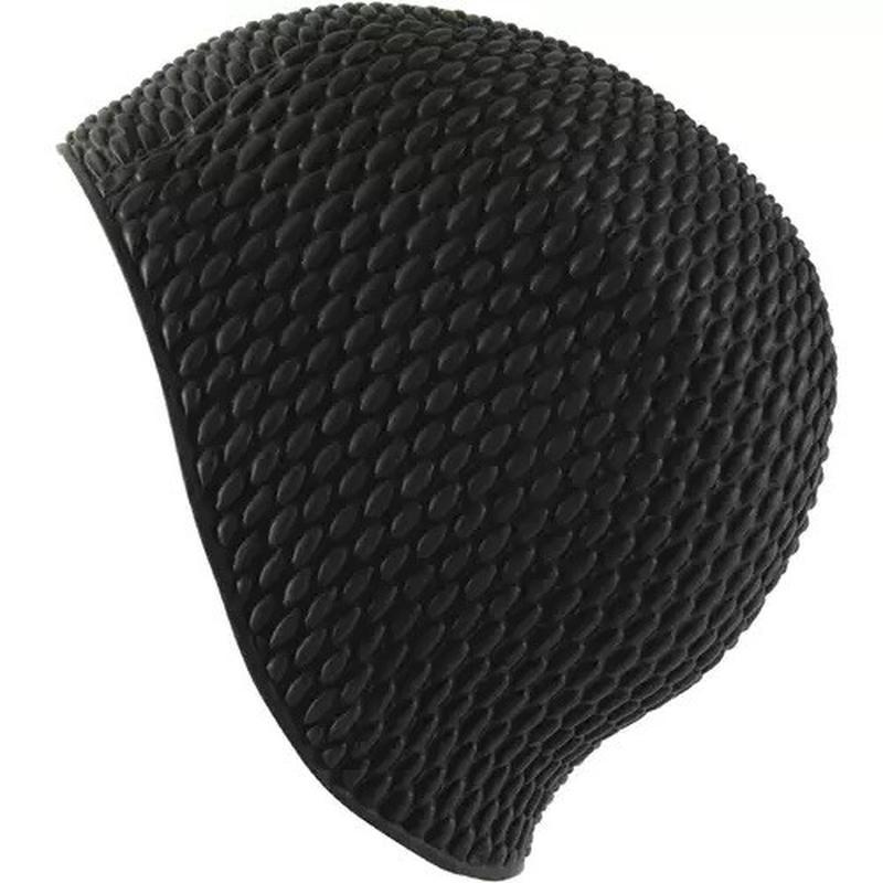 Классная фактурная женская шапочка для бассейна для длинных волос фото №1
