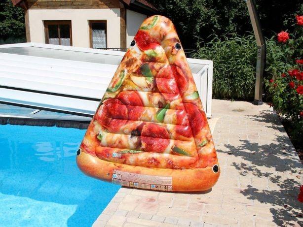 Надувной матрас интекс 58752 пицца размер 175 х 145 см фото №1