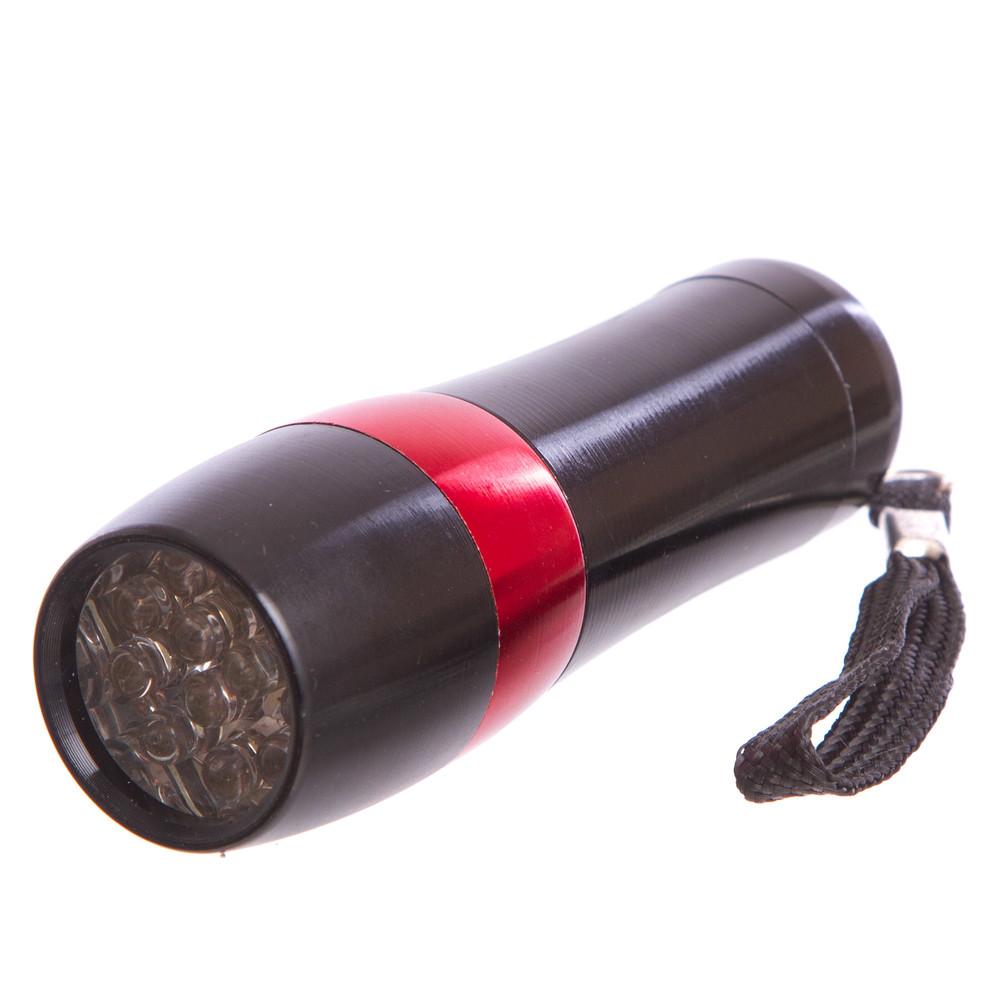 Фонарик светодиодный 132-12: 12 светодиодов, длина 9,3см (на батарейках) фото №1