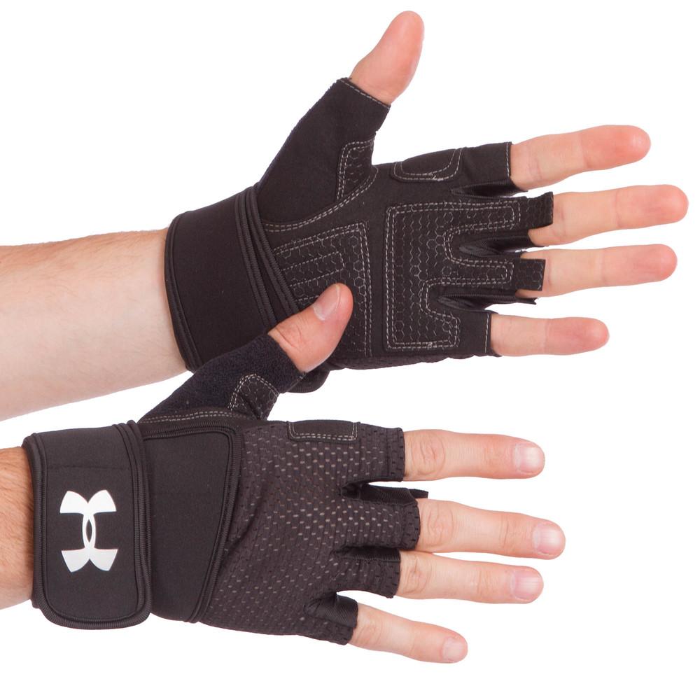 Перчатки для тяжелой атлетики under armour 859: размер s-xl (2 цвета) фото №1