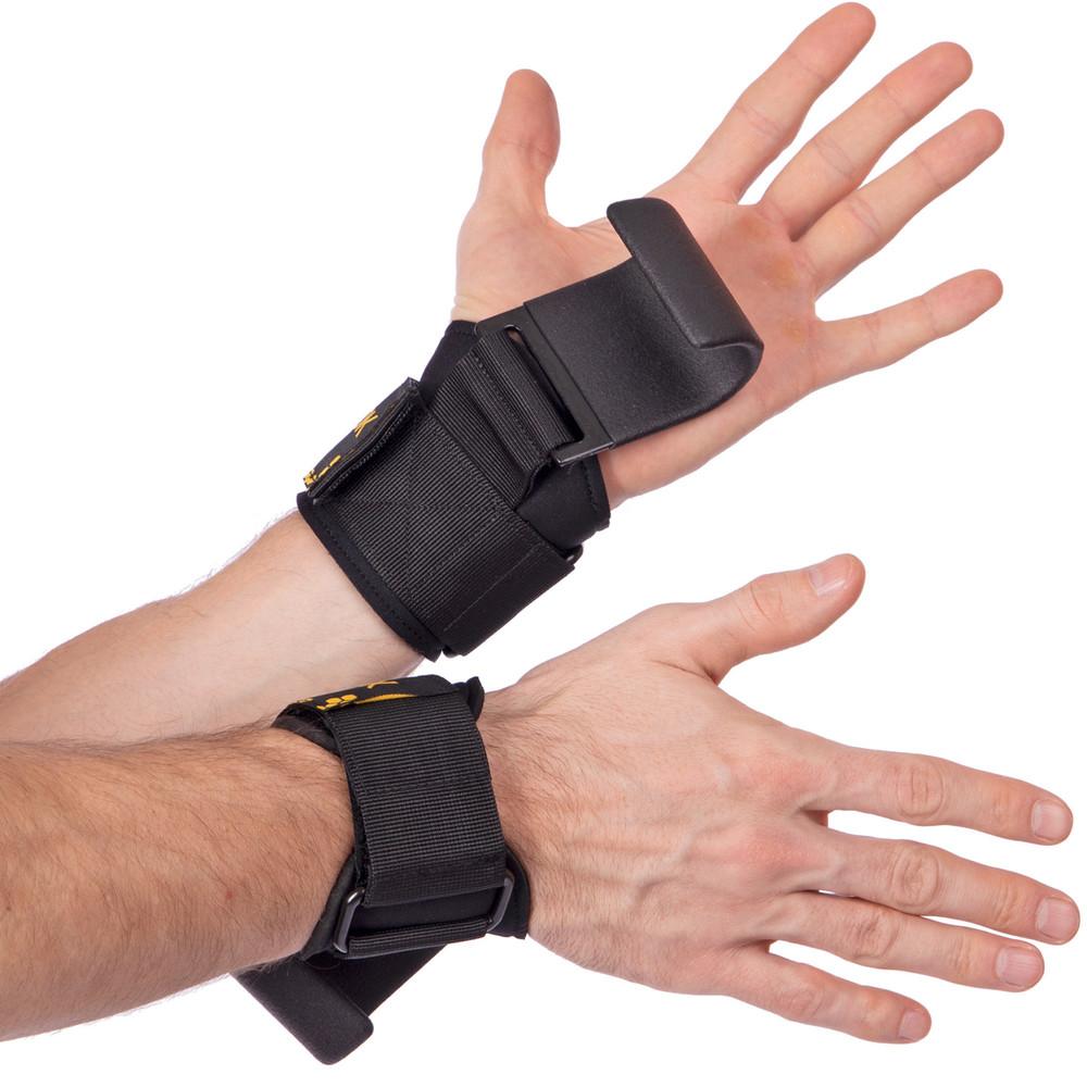 Крюки ремни атлетические для уменьшения нагрузки на пальцы skdk 2019z-b: 2 лямки в комплекте фото №1