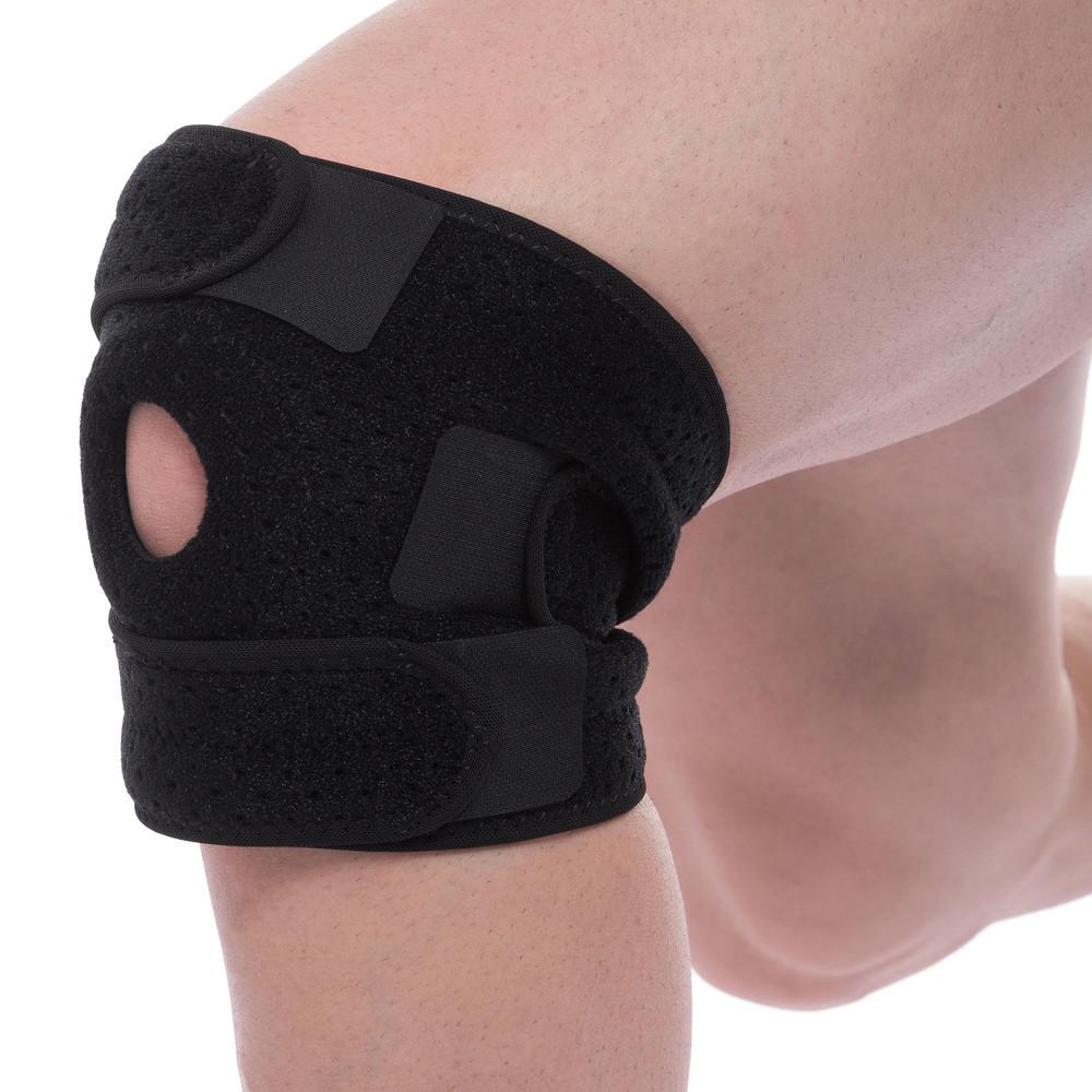 Наколенник ортез коленного сустава с открытой коленной чашечкой mute 9050: регулируемый размер фото №1