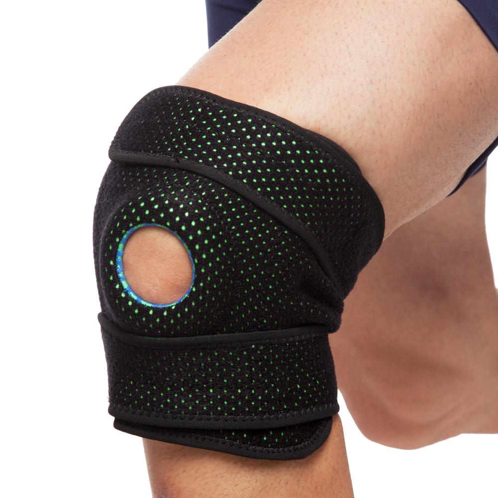 Наколенник ортез коленного сустава с эластичными ребками жесткости mute 9069: регулируемый размер фото №1