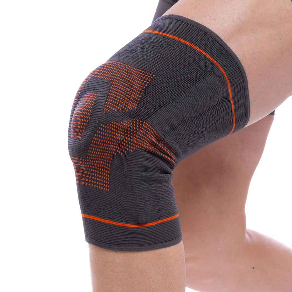 Наколенник бандаж эластичный фиксатор коленного сустава sibote st-951: размер s-xl фото №1