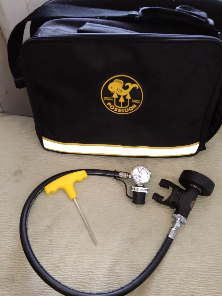 Оригинал! новый комплект регулятор для дайвинга плюс сумка для регулятора poseidon cyklon 5000 фото №1