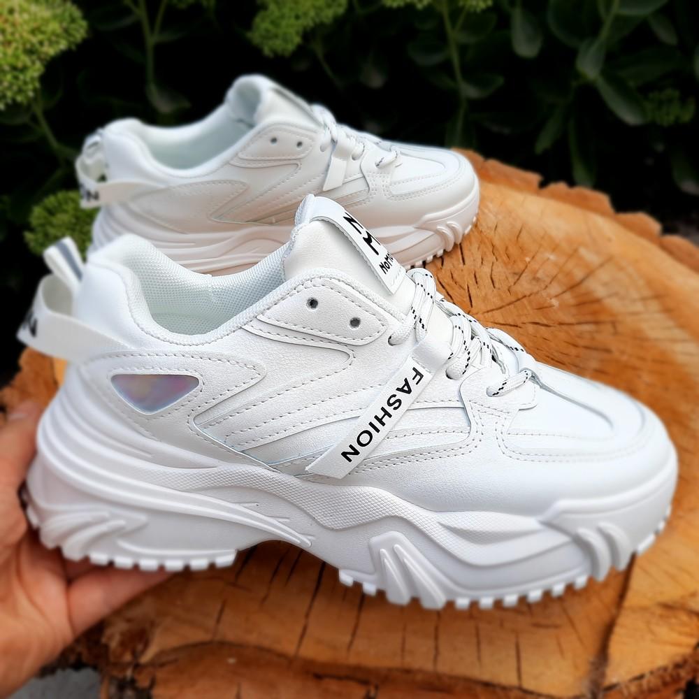 Белые кроссовки на высокой платформе 38-41 размеры фото №1