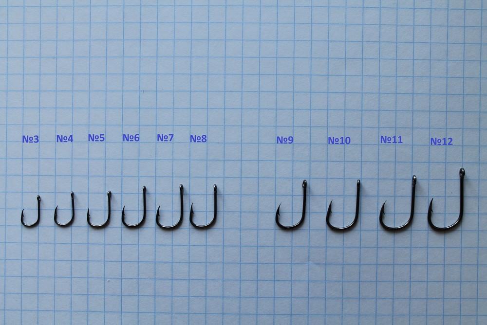 Гачки риболовні з високовуглецевої сталі 5 - 12 за відчизняною номерацією фото №1
