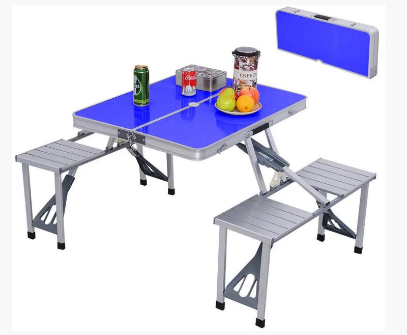 Удобный раскладной столик с табуретками фото №1