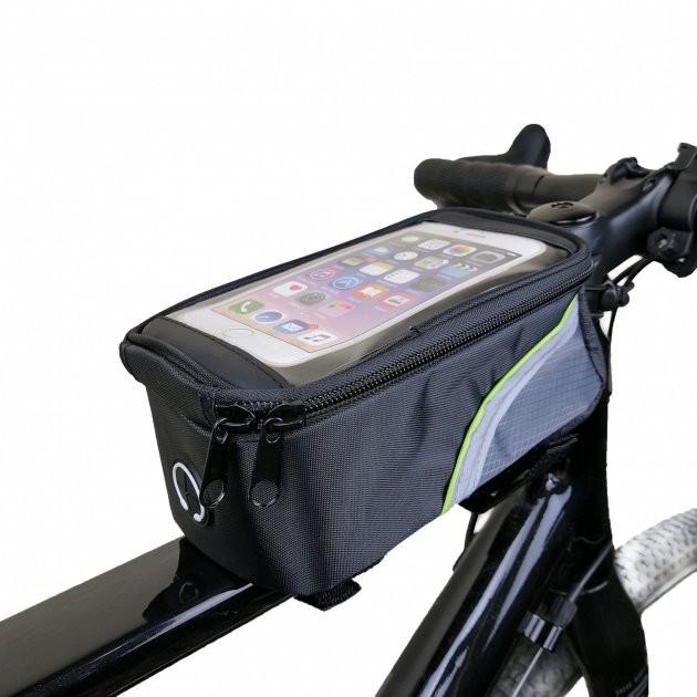 Велосумка сумка на раму велосипеда с отделением под смартфон фото №1